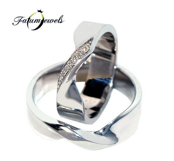 Fatumjewels Végtelen fehérarany karikagyűrű