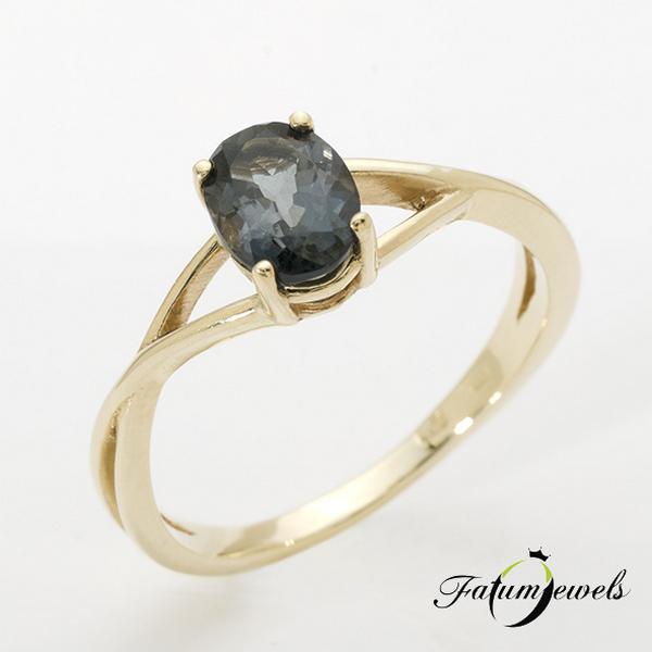 Acélkék turmalin gyűrű a Fatumjewels Galériában