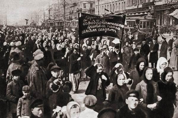 Tüntetés a női jogokért 1917-ben Oroszországban