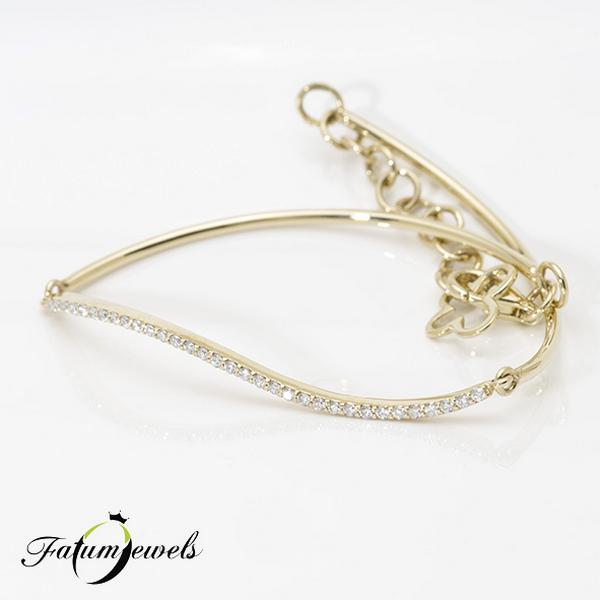 Sárga arany gyémánt karkötő a Fatumjewels Galériában
