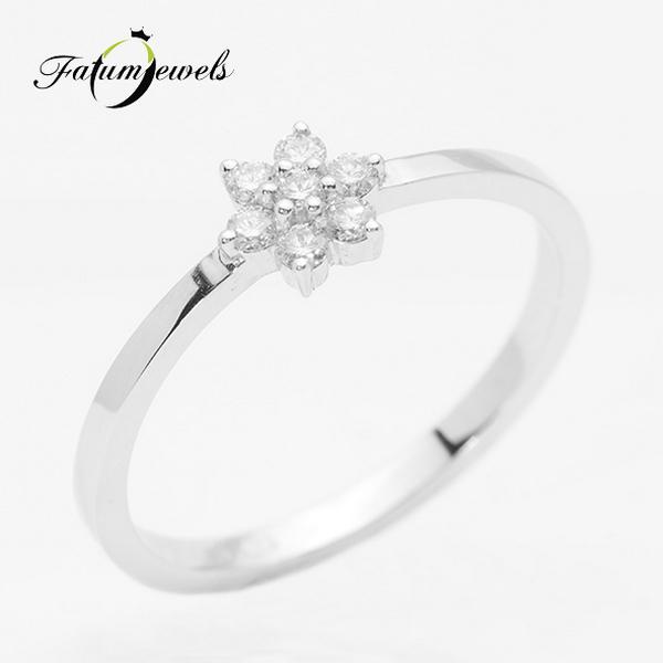 Kiscsillag fehérarany gyémánt eljegyzési gyűrű