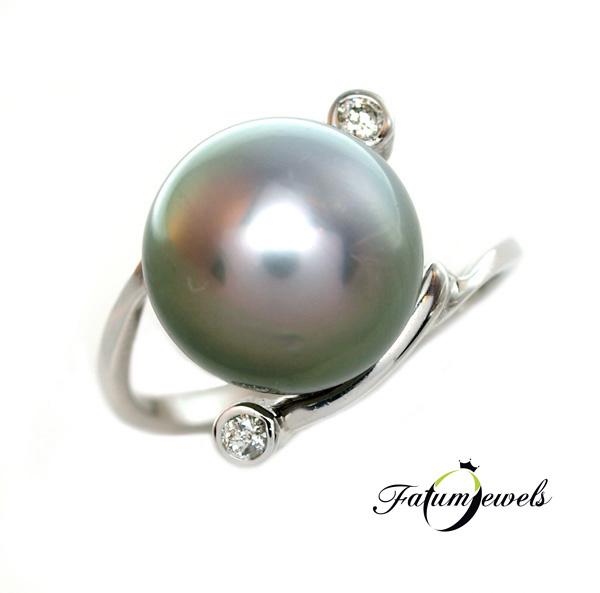 Tahiti Álom gyöngy gyémánt gyűrű
