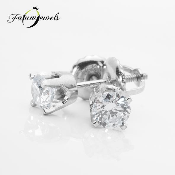 Fehérarany gyémánt fülbevaló a Fatumjewels Galériában