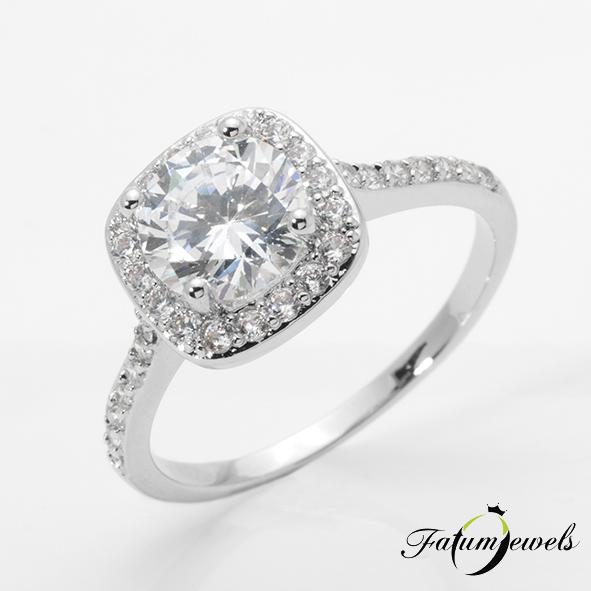 Fauna fehérarany gyémánt eljegyzési gyűrű