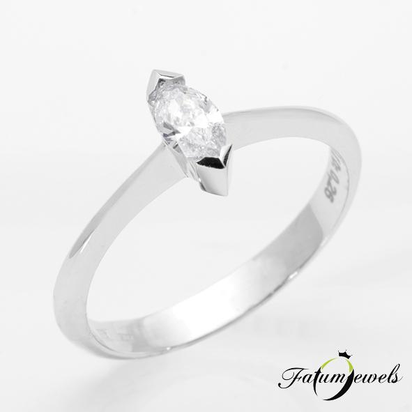 Márkiz csiszolású gyémánt drágakő