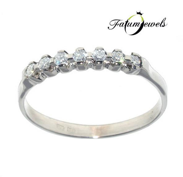 Alliance eljegyzési gyűrű gyémántsorral