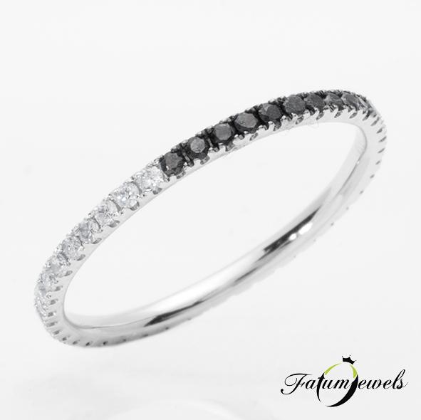 Alliance eljegyzési gyűrű karmos gyémánt foglalattal