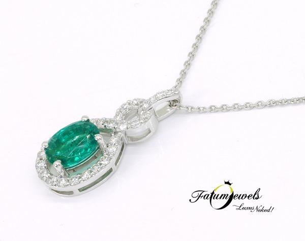 Vénusz Titka gyémánt smaragd medál Fatumjewels tervezés
