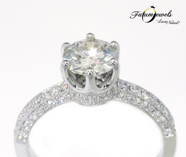 Fatumjewels Arszinoe gyémánt eljegyzési gyűrű