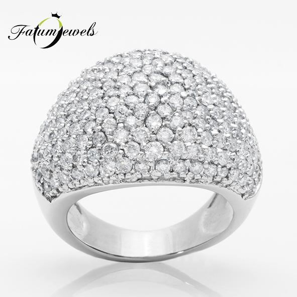 Csillagfény fehérarany egyedi gyémántgyűrű