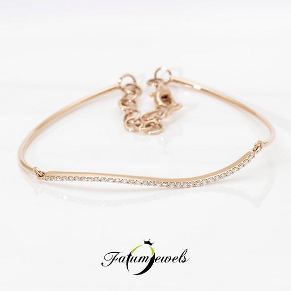 Rozé arany gyémánt karkötő
