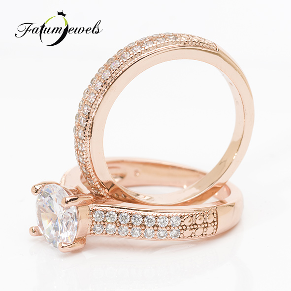 Roze Fusion dupla gyémántgyűrű
