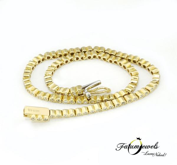 Gyémánt tenisz karkötő