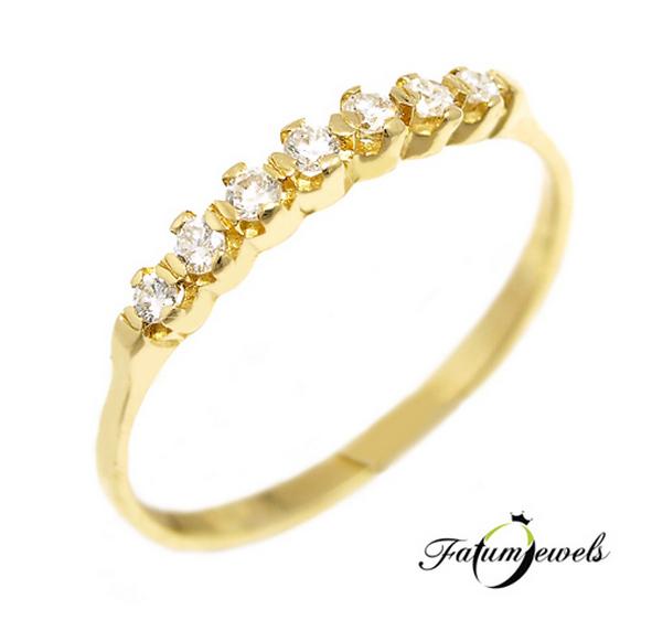 Sárga arany alliance gyémánt gyűrű