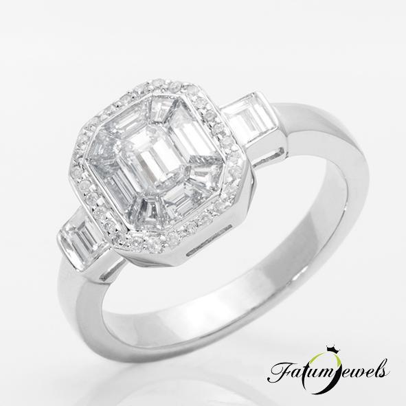 Jégtükör gyémántgyűrű