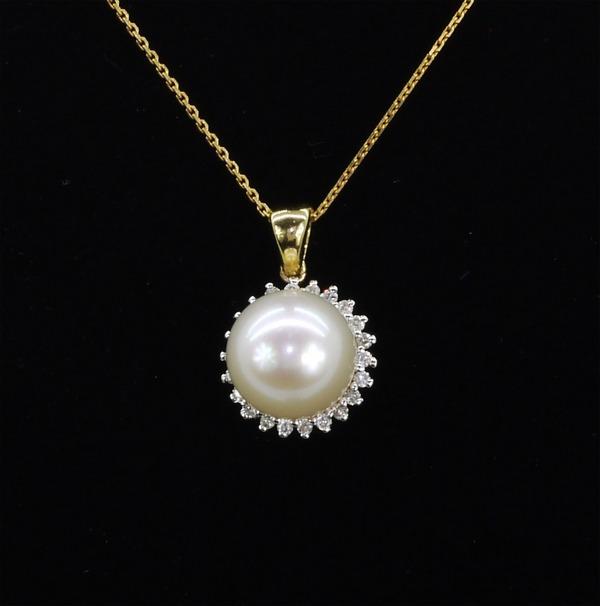 Gyémánt gyöngy medál