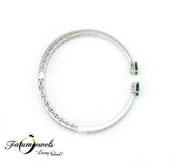 Északi Fény gyémánt smaragd karkötő