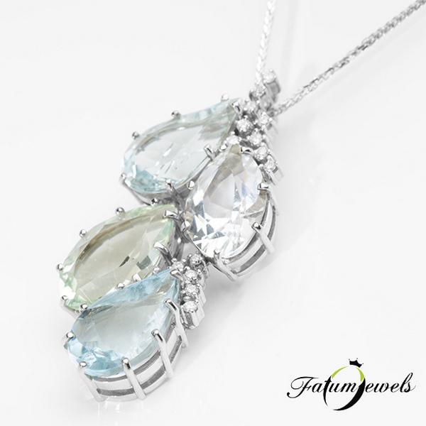 Gyémant akvamarin berill goshenit heliodor nyakék