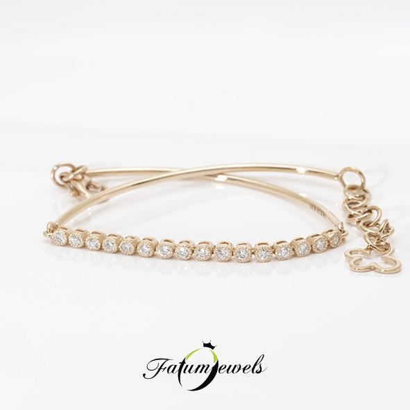 Rozé arany gyémánt karkötő a Fatumjewelstől