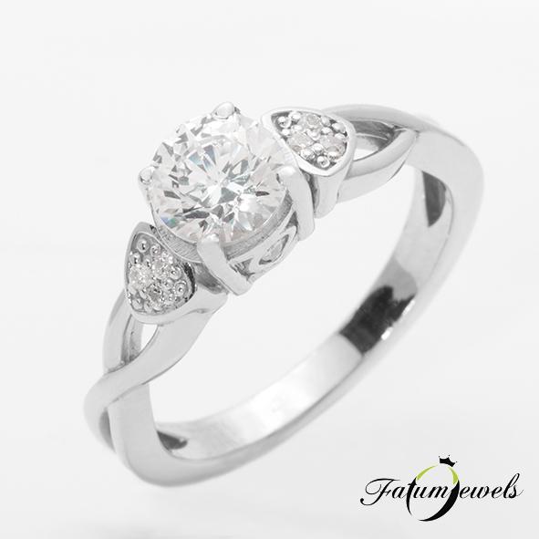 Fehérarany gyémánt eljegyzési gyűrű