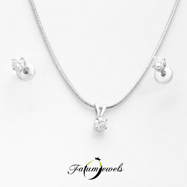 Fehérarany gyémánt szett