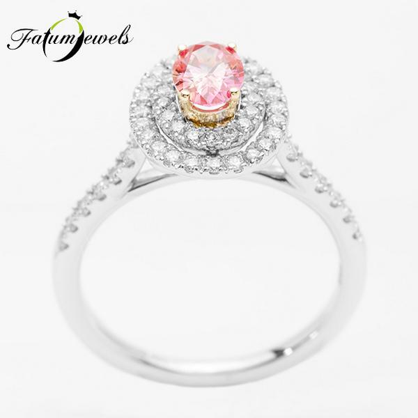 Athéné tava Fatumjewels rózsaszín gyémántgyűrű