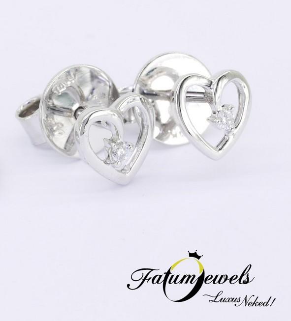 Gyémánt szív fülbevaló
