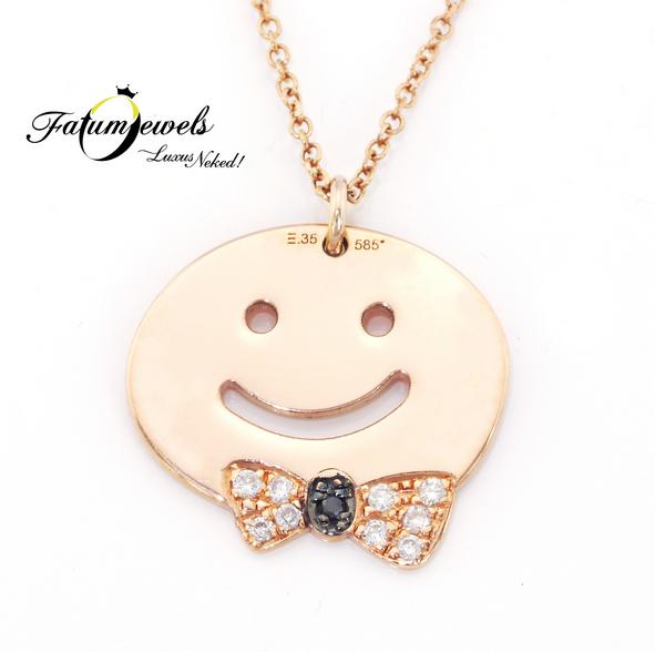 Happy rozé arany gyémánt medál