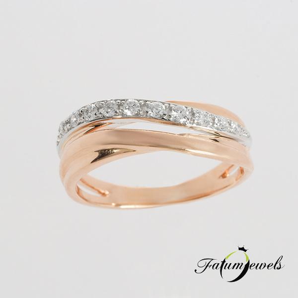 Fatumjewels bikolor gyémánt fonat gyűrű