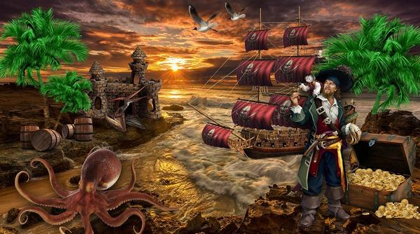 Kincsek az Újvilágból, a kalózok