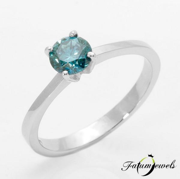 Fatumjewels azúrkék gyémántgyűrű