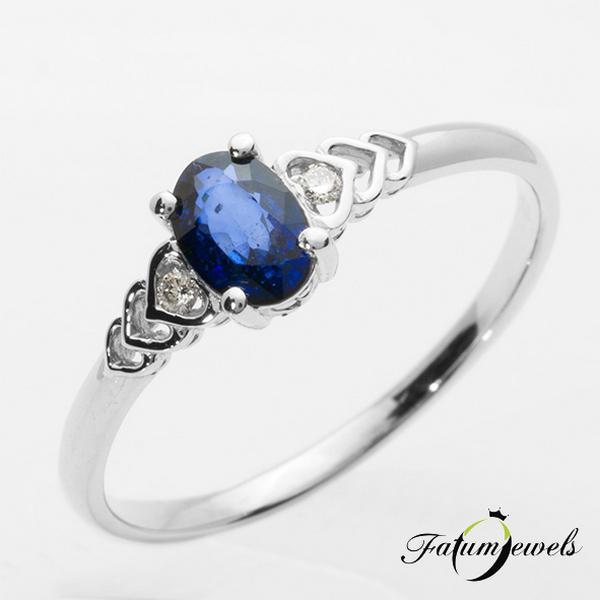 Kék zafír gyűrű