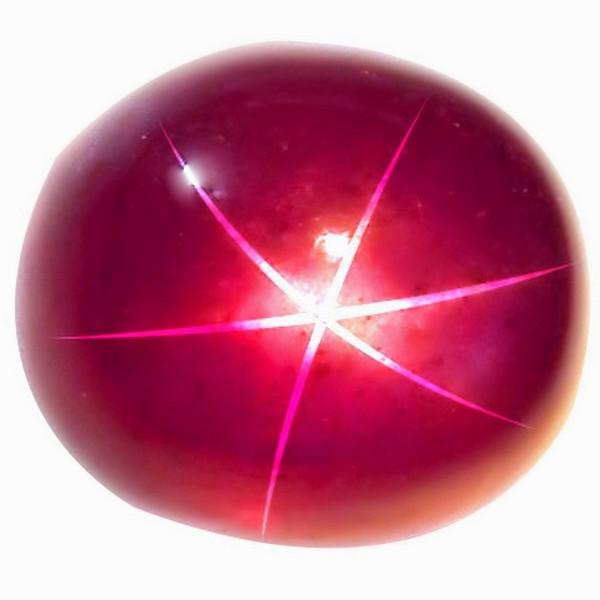 DeLong Star Ruby csillaghatás