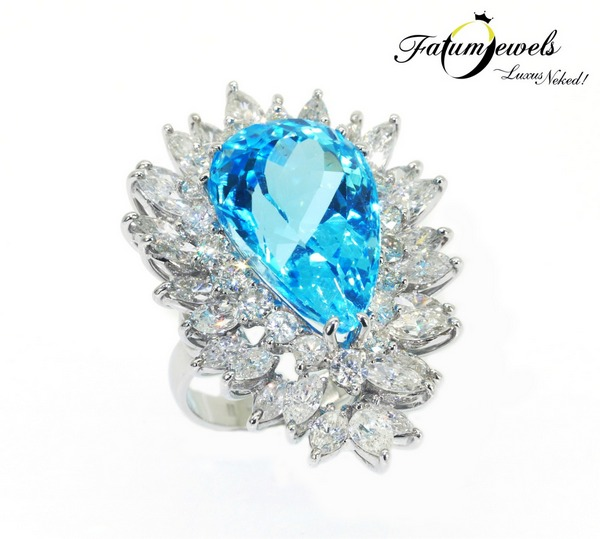 Hollywood Moments gyémánt topáz gyűrű