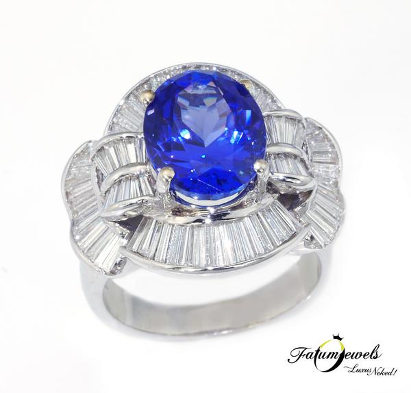 Tanzánia Éke gyémánt tanzanit gyűrű