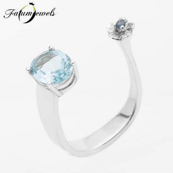 Zafír topáz gyűrű