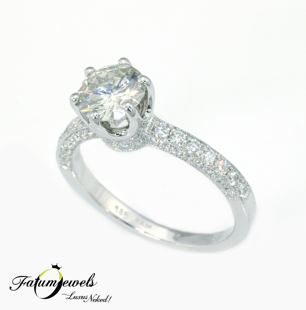 Fatumjewels Arszinoe gyémántgyűrű