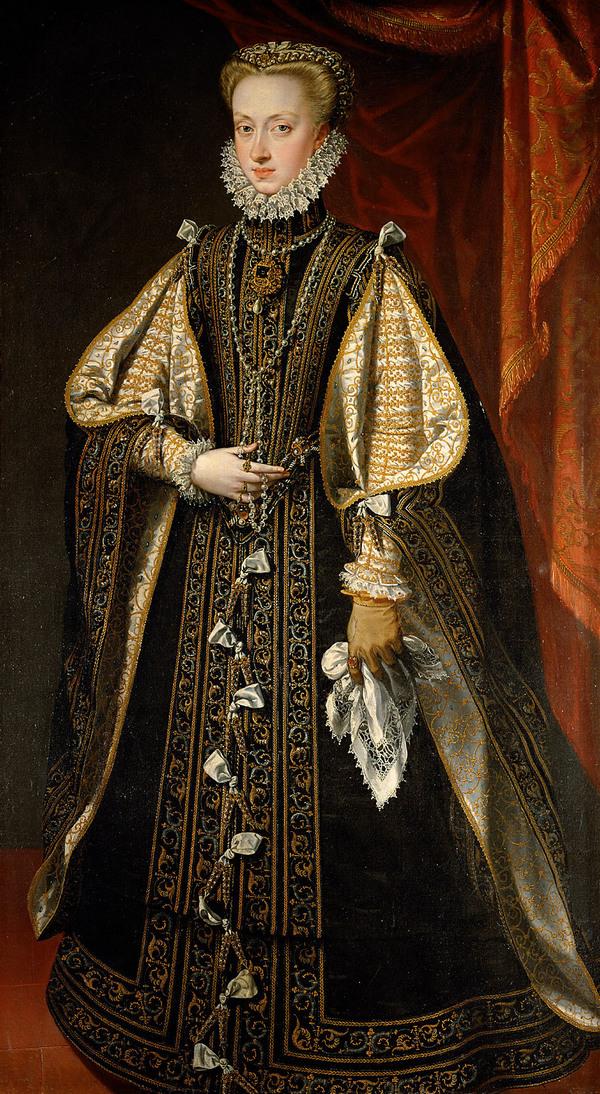 Ausztriai Anna az El Estanque kék gyémánttal