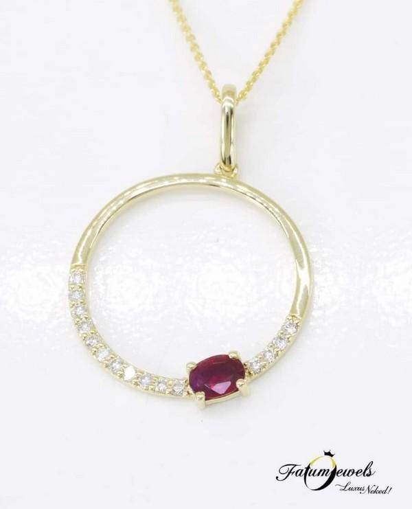 Fatumjewels Orákulum gyémánt rubin medál