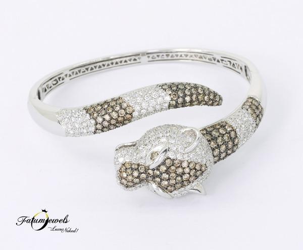 Fatumjewels Diamond Panther gyémánt karperec