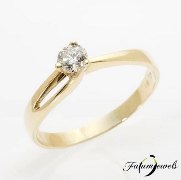 Fatumjewels gyémánt eljegyzési gyűrű