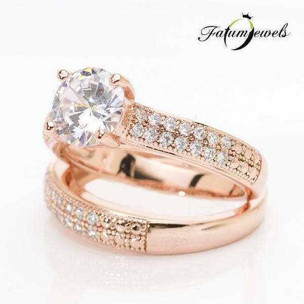 Fatumjewels Roze Fuzion gyémánt gyűrű