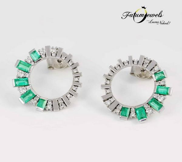 Fatumjewels gyémánt smaragd fülbevaló