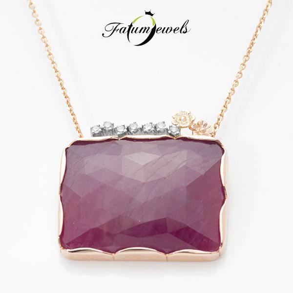 Fatumjewels gyémánt rubin medál