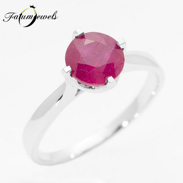 Fatumjewels rubin gyűrű