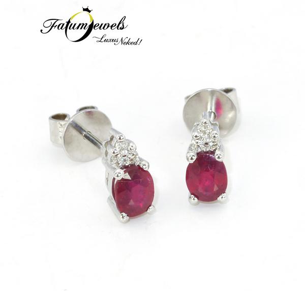 Fatumjewels gyémánt rubin fülbevaló