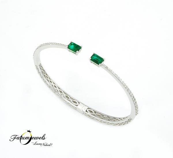 Fatumjewels gyémánt smaragd karkötő