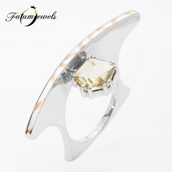 Fatumjewels Batleth citrin gyűrű