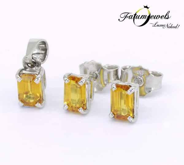 Fatumjewels sárga zafír ékszer szett