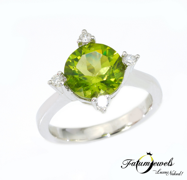 Fatumjewels gyémánt peridot gyűrű